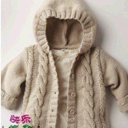 Курточка с капюшоном для малыша (Вязание спицами)