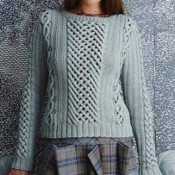Пуловер Fretwork (Вязание спицами)