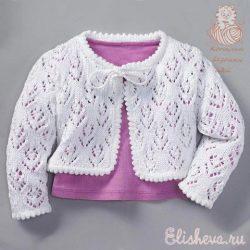 Кофточка для девочки (Вязание спицами и крючком)