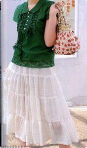 Длинная летняя юбка с воланами (Шитье и крой)