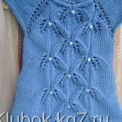 Стильное платье для девочек (Вязание спицами)