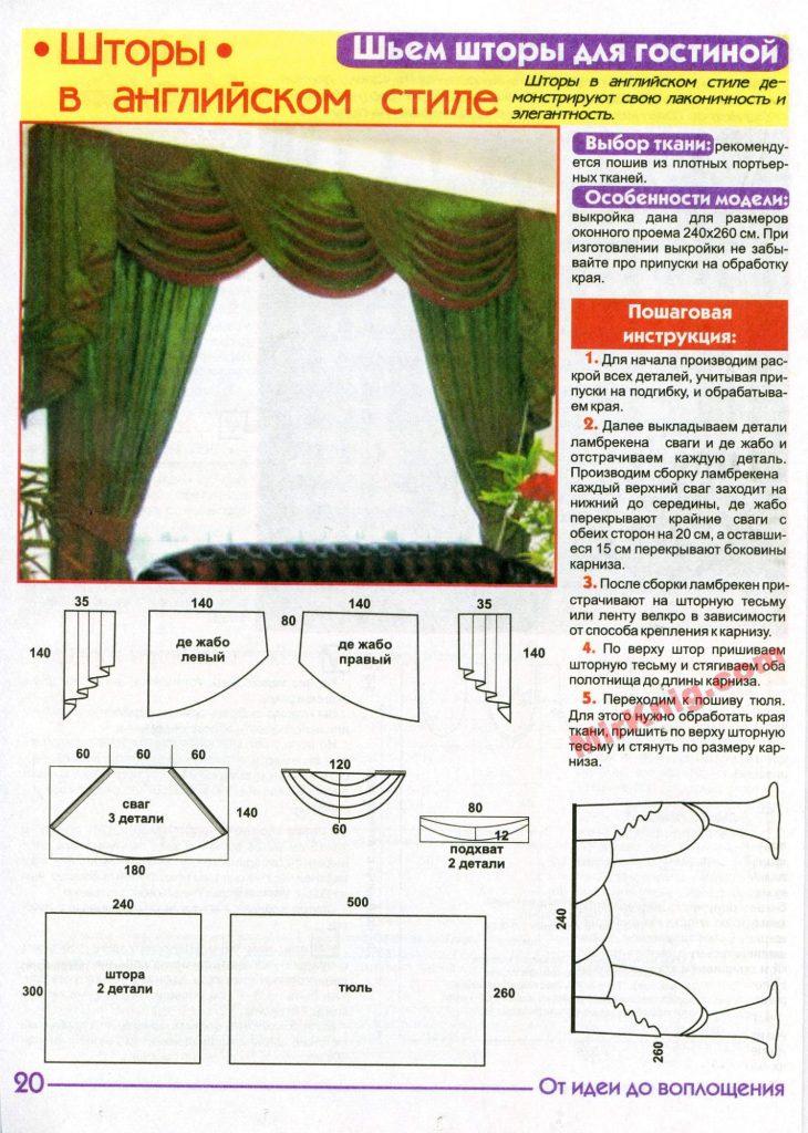 Как сшить штору с ламбрекеном инструкция
