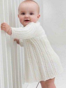 Платье для малышки (Вязание спицами)