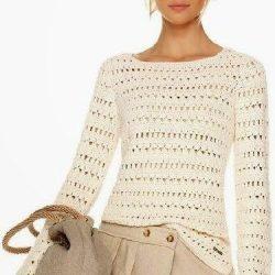 Модный пуловер (Вязание крючком)