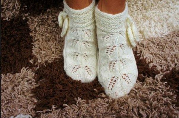 Красивые вязанные носки видео