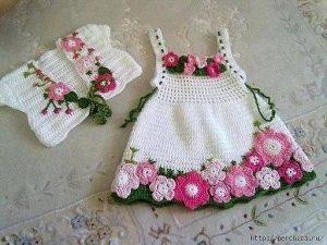 Детское платье «Весна» (Вязание крючком)