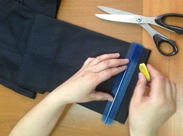 Как самостоятельно ушить брюки