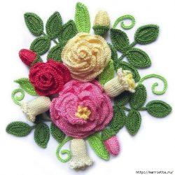 Схемы цветов крючком ( Уроки и МК по ВЯЗАНИЮ)