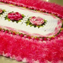 2 подушки и мягкий коврик (Вязание крючком)