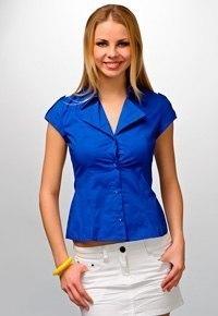 Построение блузки с короткими рукавами и открыто-отложным воротником (Шитье и крой)