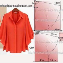 Выкройка блузы-накидки (Шитье и крой)
