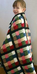 Одеяло из полосок в квадрате. Мастер-класс (Вязание крючком)
