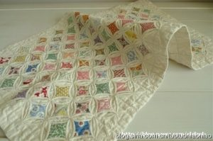 Одеяло из лоскутков в технике оригами (Квилтинг)