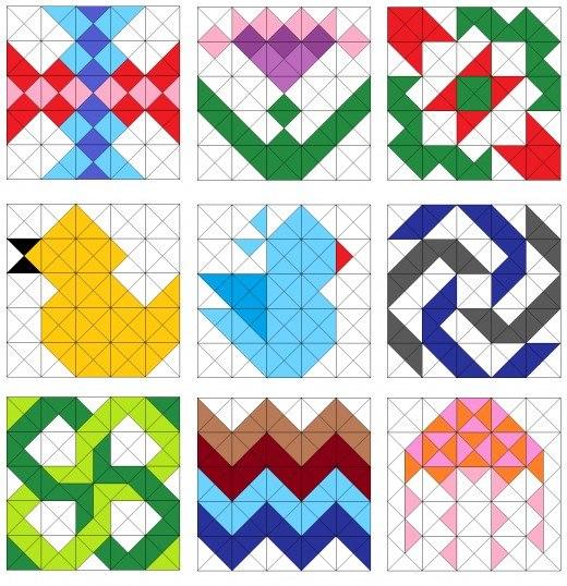 Схемы мозаика пэчворк
