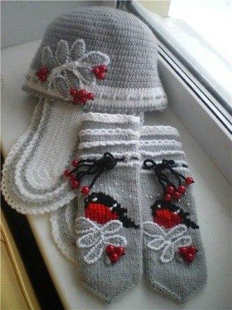 Вязание со снегирями