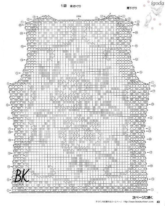 Схемы филейного вязания крючком маек