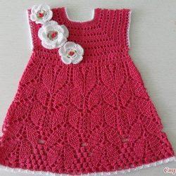 Детское платье «Спелая вишня» (Вязание крючком)