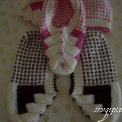 Тапочки — следки  (Вязание спицами)