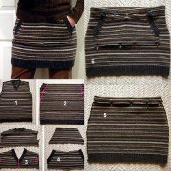 Шьем юбочку из старой кофточки (Шитье и крой)