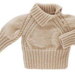Детский пуловер (Вязание спицами)