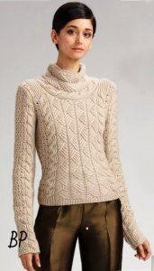 Шикарный пуловер или безрукавка (Вязание спицами)