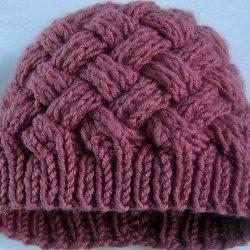 Двусторонняя женская шапочка (Вязание спицами)