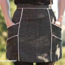 Юбка с карманами и кантом. Размер 36 -56 (Шитье и крой)