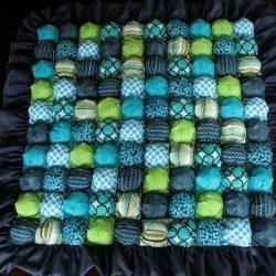 Бисквитное детское одеяло с пузырьками (Квилтинг)