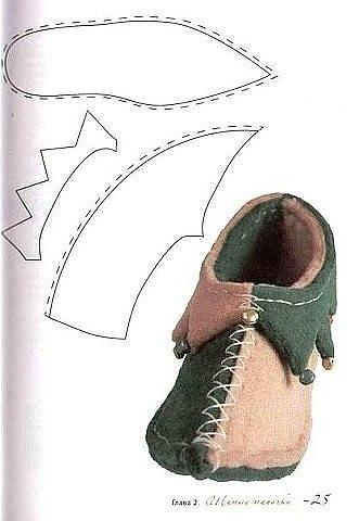 Ботинки гнома своими руками выкройка