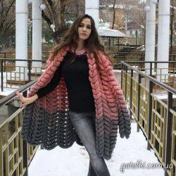 Кардиган Азиатский колосок или Шиншилла (Вязание спицами)