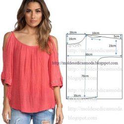 Выкройка летней блузы (Шитье и крой)