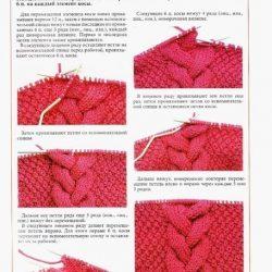 Техника вязания объемной косы (Уроки и МК по ВЯЗАНИЮ)