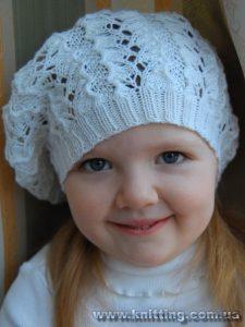 Детский беретик (Вязание спицами)