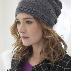 Стильная шапочка (Вязание спицами)