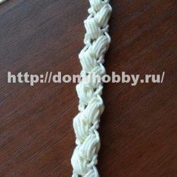Вязание крючком шнура «колосок»( Уроки и МК по ВЯЗАНИЮ)