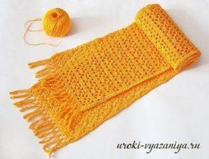 Ажурный шарф, мастер-класс для начинающих (Вязание крючком)