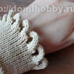 Закрытие петель с оформлением края шнуром (Уроки и МК по ВЯЗАНИЮ)