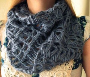 Снуд перуанским вязанием (вязание крючком)