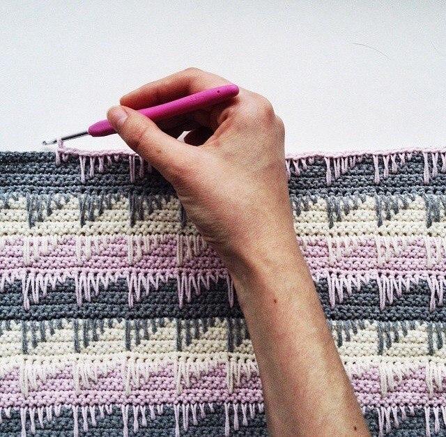 简单美丽的钩针床罩毯(大师班) - maomao - 我随心动