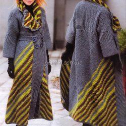 Необычное пальто от Светланы Волкодав (Вязание спицами)
