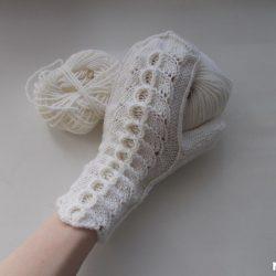 Ажурные варежки (Вязание спицами)