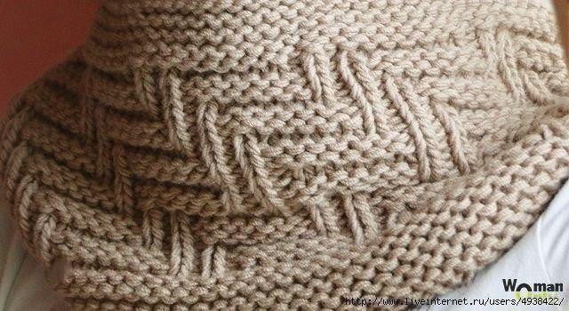 Шарф вязание спицами быстро