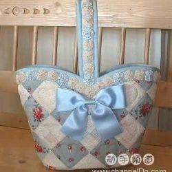 Как сшить лоскутную сумку с цветочками йо-йо (Квилтинг)