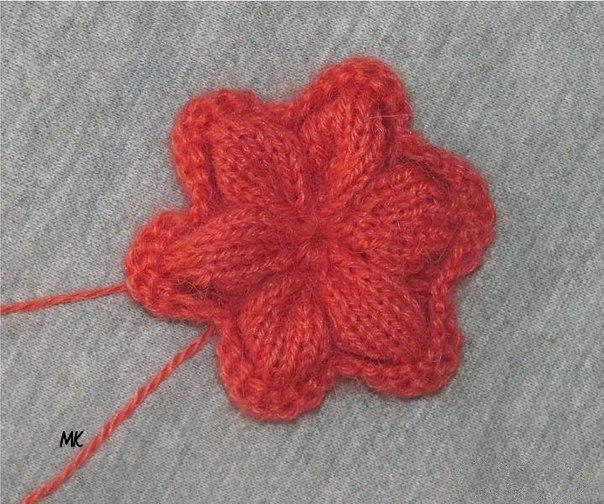 Вязание спицами цветочки для начинающих