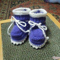 Пинетки для малыша (Вязание спицами)