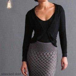 Красивая юбка (Вязание спицами)