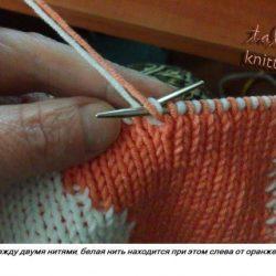 Подробный мастер класс по двойному вязанию спицами (Уроки и МК по ВЯЗАНИЮ)