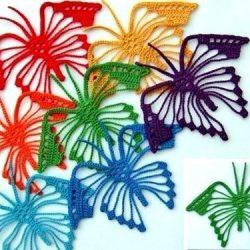 Вязаные бабочки крючком (Уроки и МК по ВЯЗАНИЮ)
