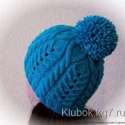 Зимняя шапочка (Вязание спицами)