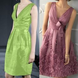 Платье с драпированными на груди и складками. Выкройка (Шитье и крой)